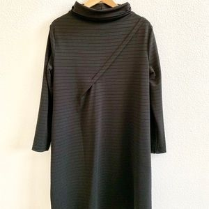 Trapeze Dress with High Collar Size S